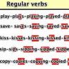 Regular Verbs İngilizce Düzenli Fiiller