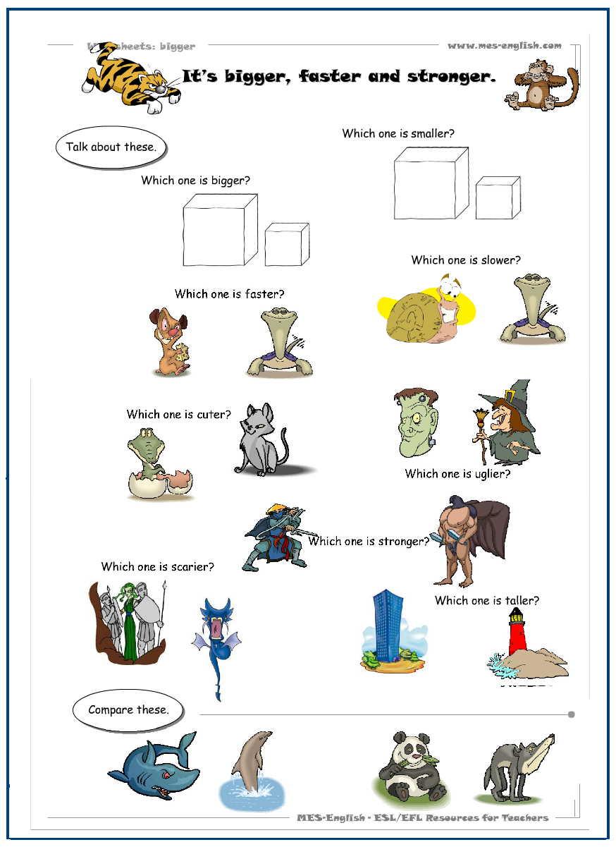 Comparatives sınıfta örnek kullanılabilecek