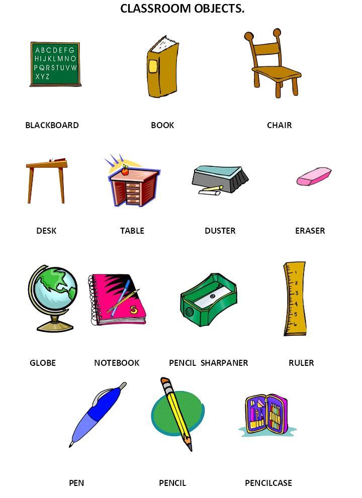 İngilizce Nesne İsimleri Resimli Testi